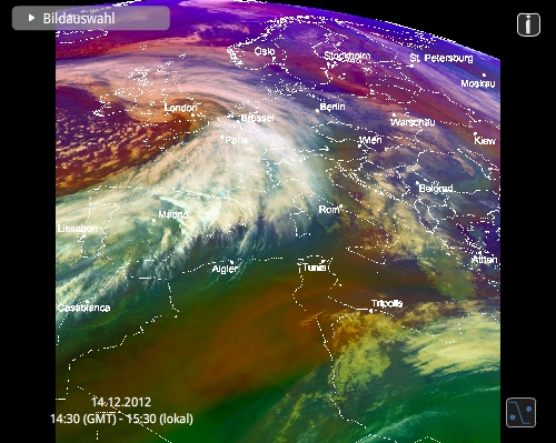 Screenshot MeteoViewer - Luftmassen
